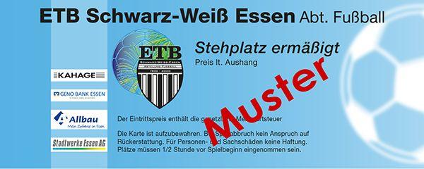ETB Schwarz Weiß Essen - Musterkarte - Stehplatz ermäßigt