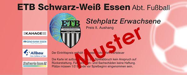ETB Schwarz Weiß Essen - Musterkarte - Stehplatz Erwachsene