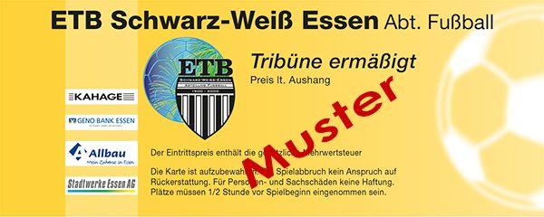 ETB Schwarz Weiß Essen - Musterkarte - Tribüne ermäßigt