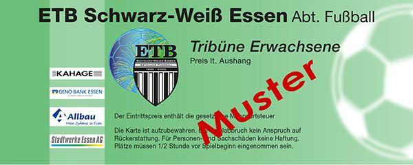 ETB Schwarz Weiß Essen - Musterkarte - Tribüne Erwachsene