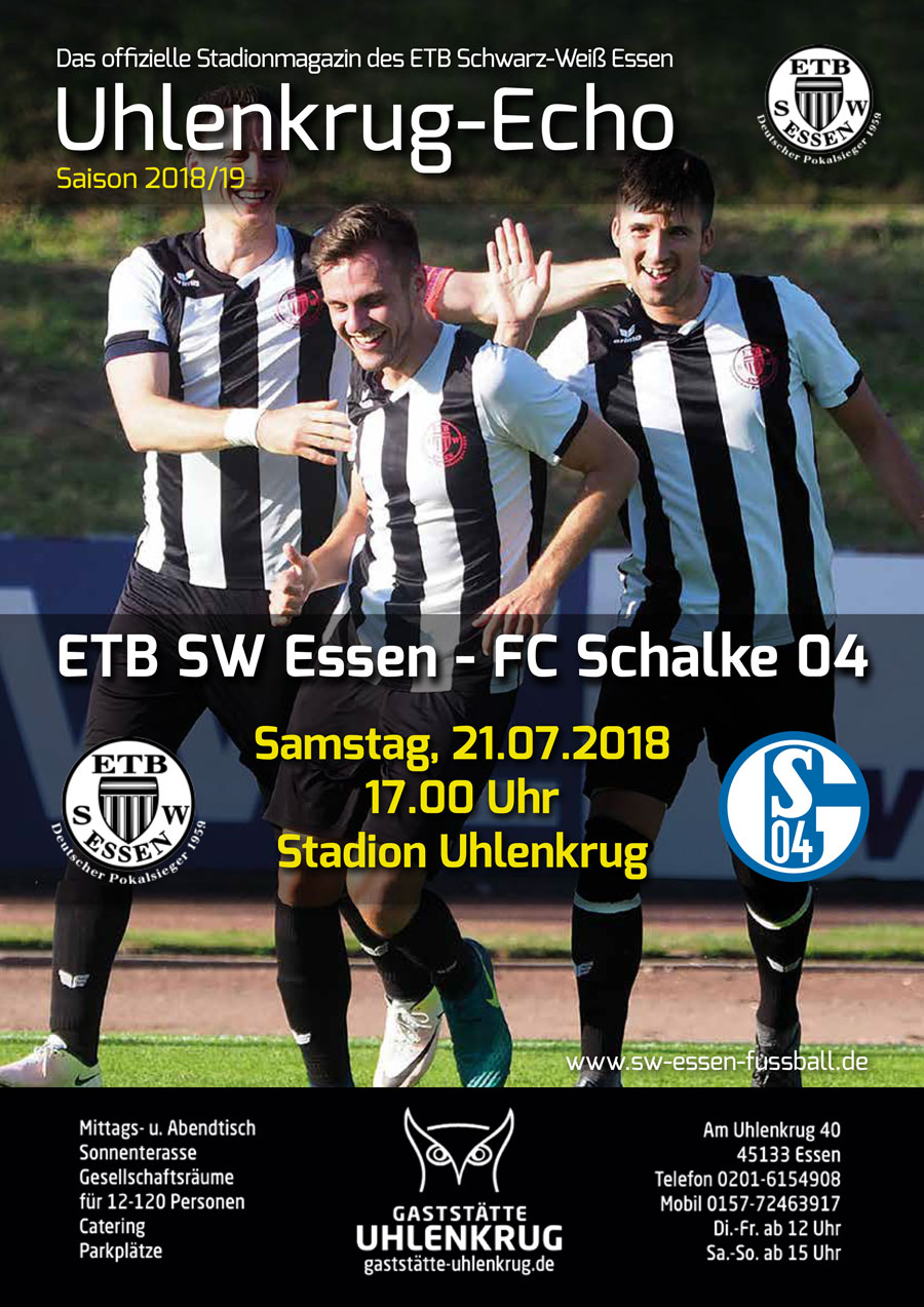 SW Essen - Stadionmagazin - Uhlenkrug Echo 1 - 2018/19