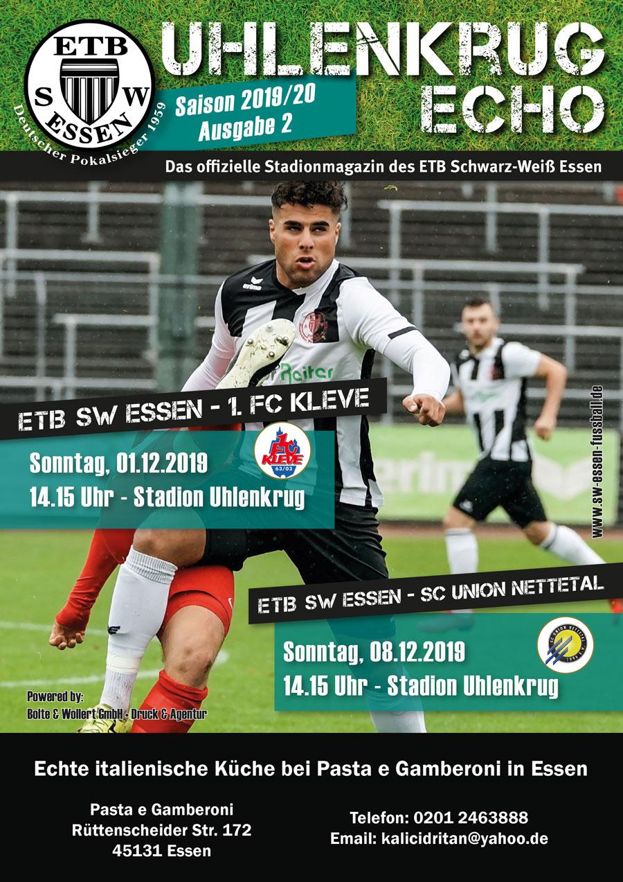 SW Essen - Stadionmagazin - Uhlenkrug Echo 2 - 2019/20