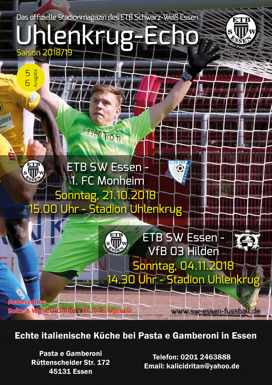 SW Essen - Stadionmagazin - Uhlenkrug Echo 3 - 2018/19