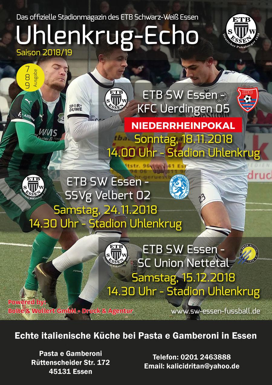 SW Essen - Stadionmagazin - Uhlenkrug Echo 4 - 2018/19