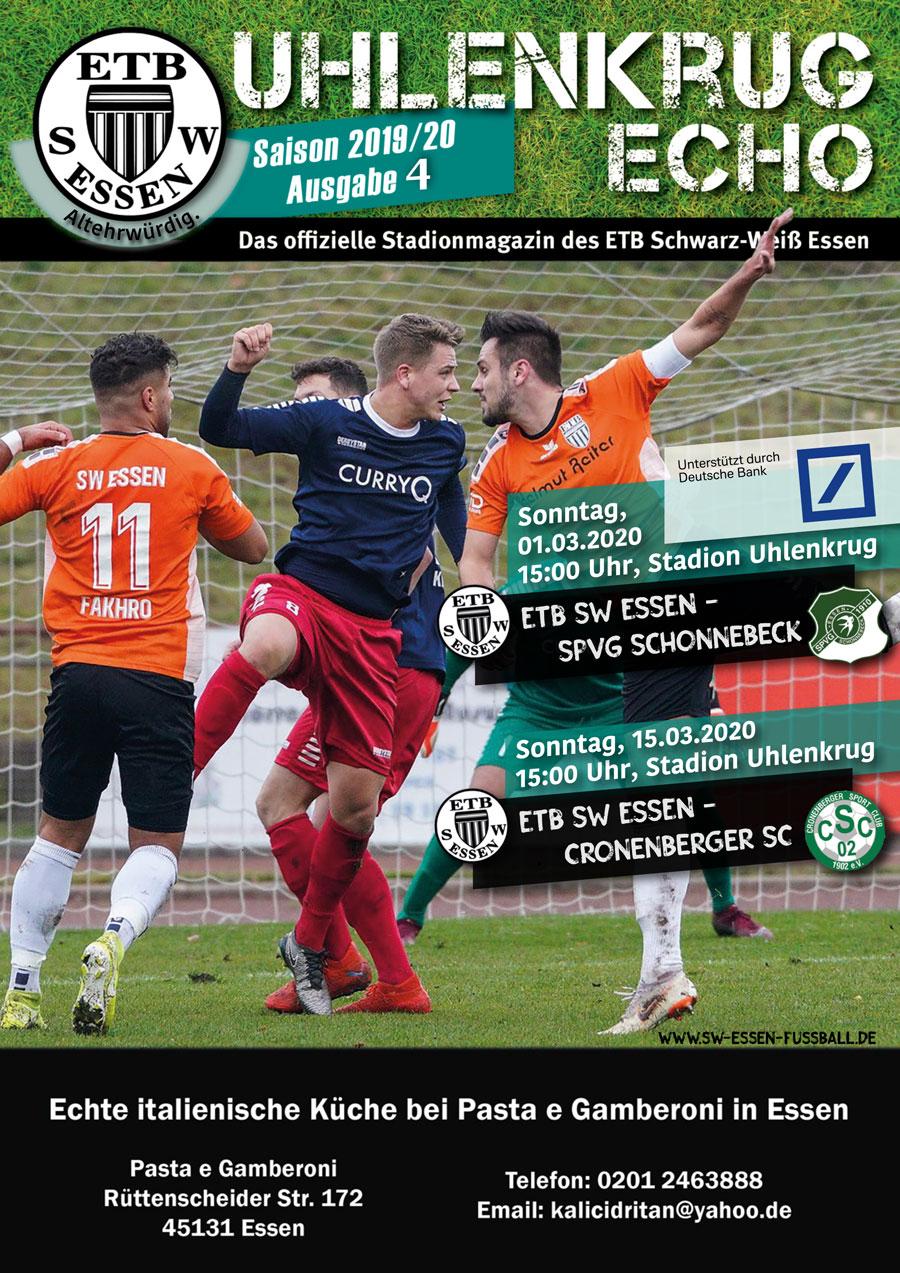 SW Essen - Stadionmagazin - Uhlenkrug Echo 4 - 2019/20
