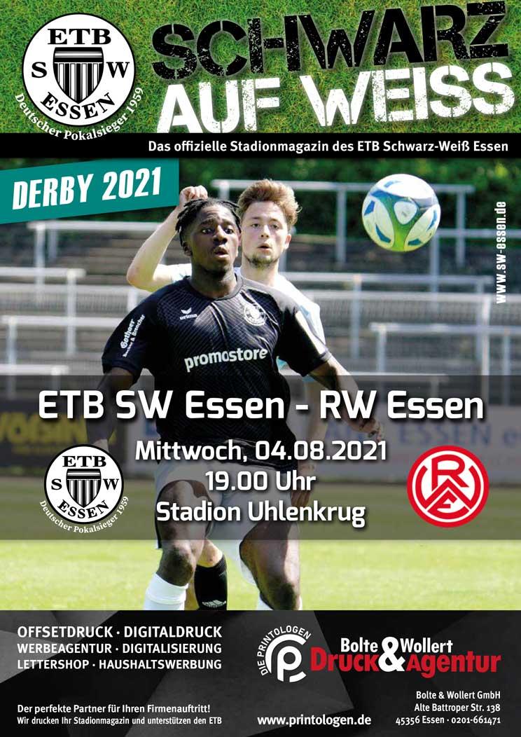 SW Essen - Stadionmagazin - Uhlenkrug Echo - ETB vs. RWE - 21/22