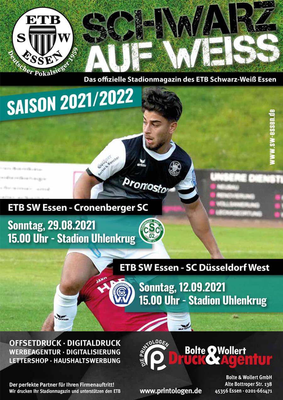 ETB-Stadionzeitung Saison 2021-22 Ausgabe 2